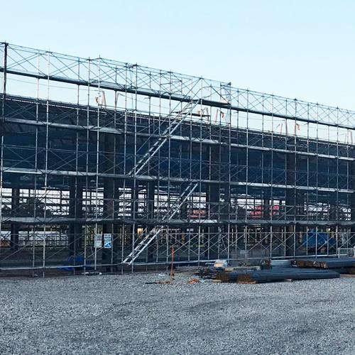 茨城県鉾田市 某倉庫新築工事 次世代式足場 ミレニューム 2300㎡
