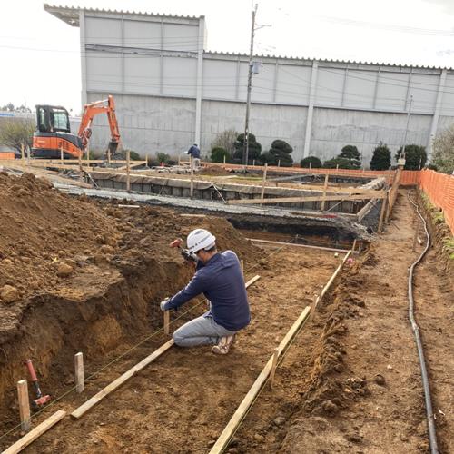 茨城県東海村 某倉庫新築工事 システム基礎工事 500㎡その1