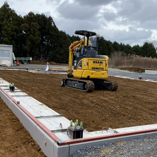 茨城県東海村 某倉庫新築工事 システム基礎工事 500㎡その2