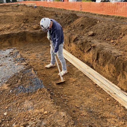 茨城県東海村 某倉庫新築工事 システム基礎工事 500㎡